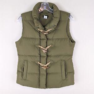 J. Crew | Green Puffer Vest